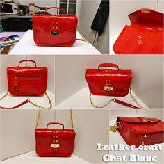 Red satchel bag punk version