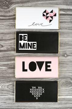 Free Printable Valentine's Day Chocolate Bar Wraps