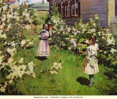 Victor Borisov-Musatov. May Flowers. Olga's Gallery.