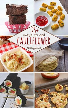 25  ways to eat cauliflower from No Biggie; thanks for including me!