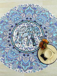 Shop Elephant & Flower Print Boho Round Beach Blanket online. SheIn offers Elephant & Flower Print Boho Round Beach Blanket & more to fit your fashionable needs.