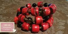 Роскошный тройной браслет из натурального красного коралла и раух топазов,вставка афганский лазурит