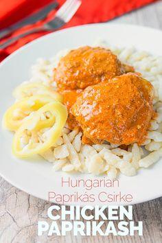 Hungarian Chicken Paprikash With Nokedli | Krumpli Hungarian Cuisine, Hungarian Recipes, Croatian Recipes, Vegan Recipes Easy, Gourmet Recipes, Delicious Recipes, Bread Recipes, Vegetarian Recipes, Side Dish Recipes