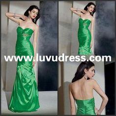 New Design Elegant Fashion Sheath Sweetheart Taffeta Floor -Length Sleeveless 2015 Prom Dress Free Shipping