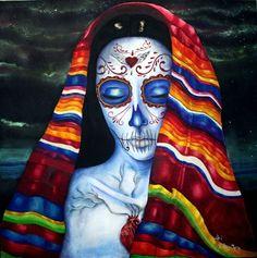 Happy Dia de los Muertos - many blessings to you and your ancestors. (La Catrina by Ari De La Mora)