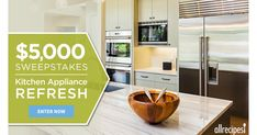 allrecipes Giveaway: $5,000 For New Kitchen Appliances! - http://gimmiefreebies.com/allrecipes-giveaway-5000-for-new-kitchen-appliances/ #Contest #Contests #Giveaways #Sweeps #Sweepstakes #ad