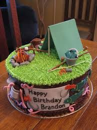 camping and fishing cakes - Google Search