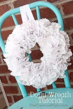 Doily Wreath Tutorial | The Creative Mom thecreativemom.com