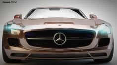 Mercedes AMG Modeling using 3ds max and try to decimate it using Zbrush so i can animate it ,,,,,The process made by 3ds max  and  render using VRay  and the retouching process by PS
