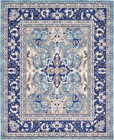 Light Blue 8' 0 x 10' 0 Heritage Rug | Area Rugs | eSaleRugs