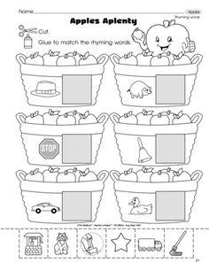 Preschool Rhyming Worksheets & Free Printables   Education.com