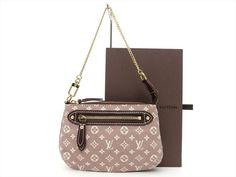 Louis Vuitton Auth Monogram Idylle Sepia Mini Pochette Accessoires POUCH Bag LV #LouisVuitton #CosmeticBags