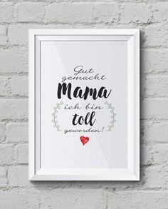 """""""Mama"""" Kunstdruck & Familienposter, besonder toll zum Muttertag, Geschenkidee"""