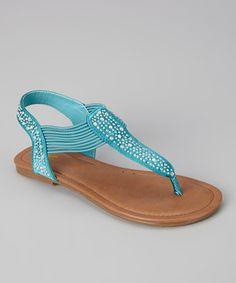 Look at this #zulilyfind! Launch Turquoise Savannah Sandal by Launch #zulilyfinds