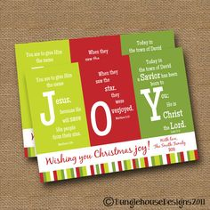 "Christmas PRINTABLE DIY ""JOY"" Scripture Bible Verse Christmas Card. Etsy"