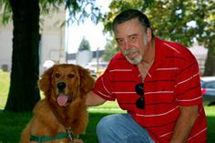 Meet Sgt. Sam, a #Vietnam #Veteran, and Chance, a Golden Retriever who was rescued from a local shelter! Sam wanted a companion animal to help him heal from #PTSD symptoms, and Chance is the perfect dog, helping him feel more comfortable every day. In the past, Sam isolated himself from the world around him and felt lonely; he knows that this will change with the help and unconditional love of his Pets for Vets companion dog Chance. Best wishes on a lifetime of happiness together!