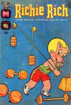 Old Comic Books, Vintage Comic Books, Vintage Cartoon, Comic Book Covers, Vintage Comics, Vintage Posters, Children's Comics, Funny Comics, Richie Rich Comics