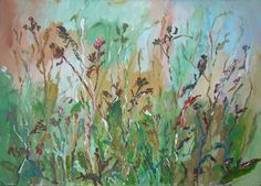 Grass and plants - Tetyana Snezhyk painting