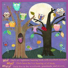 Owls - Animals Canvas Wall Art | Oopsy daisy