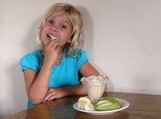 Simple snack - peanut butter fruit dip!