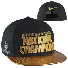 Nike UConn Huskies 2014 NCAA Women's Basketball National Champions Players Locker Room Snapback Adjustable Hat – Black