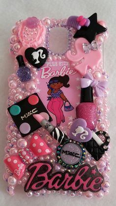 Plus Size Barbie Shopping Diva iPhone Samsung Galaxy Note 5 6 Kawaii Phone Case, Decoden Phone Case, Diy Phone Case, Bling Phone Cases, Cute Phone Cases, Iphone Cases, Chanel Iphone Case, Galaxy Note, Diy Crafts For Kids Easy