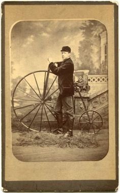 High-Wheel-Bicycle-Velocipede-Penny-Farthing-Frederick-MD-Boudoir-Cabinet-Photo