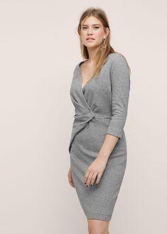 Vestido detalle drapeado - Vestidos Tallas grandes | Violeta by MANGO España