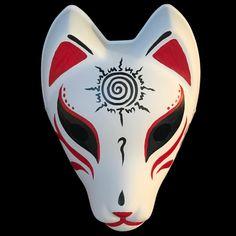 Fox spirit or nine-tailed fox (Huli Jing, Kitsune, Kumiho) Kitsune Mask-Seal of Nine Tails|Foxtume N Geisha Tattoo Design, Owl Tattoo Design, Tattoo Designs, Naruto Nine Tails, Naruto Shippuden Nine Tails, Anbu Mask, Japanese Fox Mask, Kitsune Mask, Nine Tailed Fox