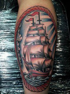 Tattoo-Foto: Mein 1. Tattoo: Segelschiff