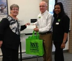 Barbara Giarmo, MLK Monument Fundraising Co-Chair (left), accepting NVE Bank's Sponsorship check from Edward M. Rolfe, First Senior Vice President, Retail Banking and Farida McDonald, Assistant Branch Manager. #leadbyexample  For complete details, please visit our website: http://mlkjrbergencountymonument.org/#2606(12) Welcome! | LinkedIn