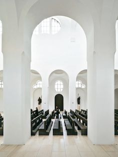 minimalist church - British architecture firm John Pawson has redesigned the 'St Moritz Church' in Augsburg, Germany, into a brand new minimalist church. Sacred Architecture, Church Architecture, Religious Architecture, Minimalist Architecture, Interior Architecture, Security Architecture, Commercial Architecture, Sustainable Architecture, Landscape Architecture