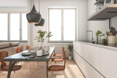 Mooi in eenvoud: de basic keuken - vtwonen.nl Dining Bench, Table, Furniture, Home Decor, Decoration Home, Table Bench, Room Decor, Tables, Home Furnishings