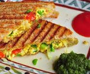 Paneer Toasty With Salsa