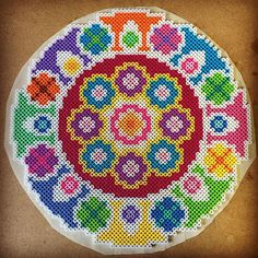 Colorful wheel perler beads by capriciousarts
