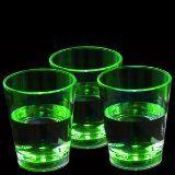 LED Liquid Activated Shot Glasses Green