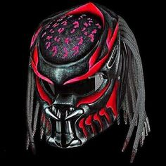 We use full helmet DOT as its base and Fiber Resin great Fiber for Predator parts. Helmet come with Red Tri-Laser with on-off switch. Motorcycle Events, Custom Motorcycle Helmets, Custom Helmets, Bike Helmets, Women Motorcycle, Motorcycle Gear, Predator Helmet, Predator Alien, Helmet Accessories