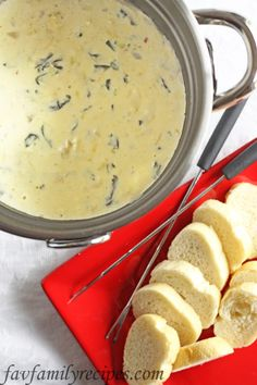 Melting Pot's Spinach Artichoke Cheese Fondue. (This IS the recipe)