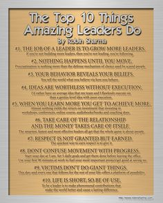 Top 10 Things Amazing Leaders Do - Robin Sharma