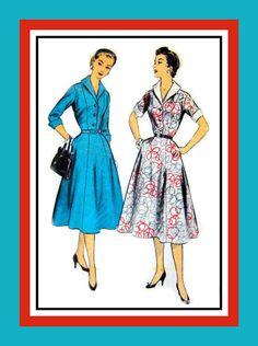 Vintage 1950s Figure Flattering Dress in by FarfallaDesignStudio, $18.00