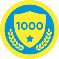 """Ten Hundred badge"" #foursquare with #Timemachine Feature viewed 1000 check-ins!"