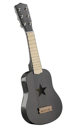 Star-Black Wooden Toy Guitar