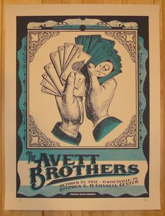 2012 Avett Brothers - Gainesville Concert Poster by Status