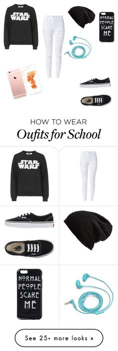 """School outfit"" by raiellanisacutiepie on Polyvore featuring Tee and Cake, Free People, FOSSIL and Vans"