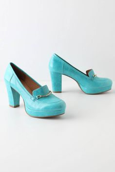 I would wear these if I had the nerve and needed the height...  @Beth Avant, the color reminds me of you!