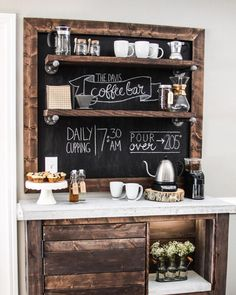 this article has some cute ideas for my coffee nook!