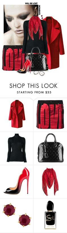 """""""Untitled #7152"""" by lisa-holt ❤ liked on Polyvore featuring Givenchy, Jil Sander, Louis Vuitton, Hermès, Ippolita and Giorgio Armani"""