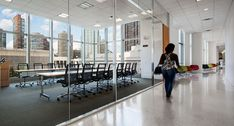 Bernhardt Design's Traction table at New Fordham Law School by Pei Cobb Freed & Partners