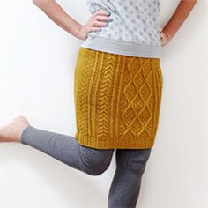 Refashion an old cable knit sweater into an easy to wear skirt. Only one seam required so it's quick to make.