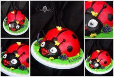 Beruška dort - ladybug cake